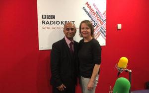 Haresh Devalia & Julia George Radio Kent