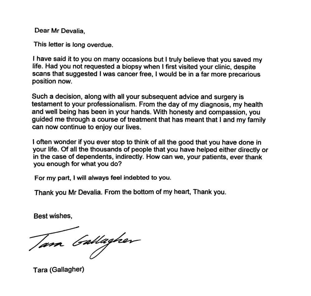 BreastClinic.com - Tara's Letter